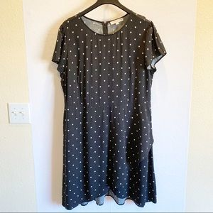 Loft Plus Polka Dot Dress Size 20
